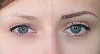 перманентный макияж бровей волосковый
