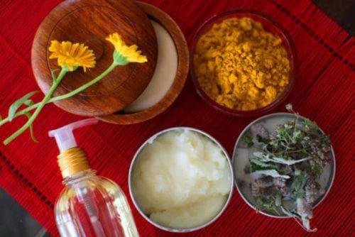 лимон, желток и огурец для пилинга лица