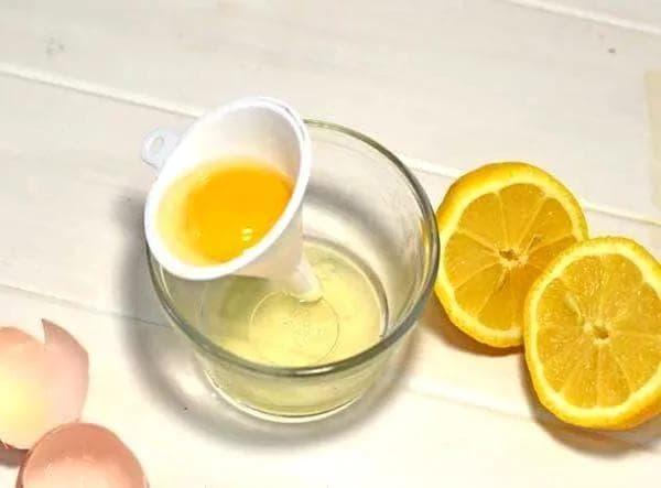 белковая маска с лимонным соком