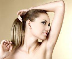 удаление волос подмышками