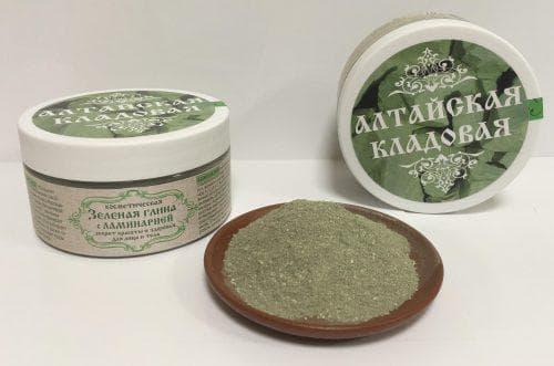 зелёная глина для пилинга