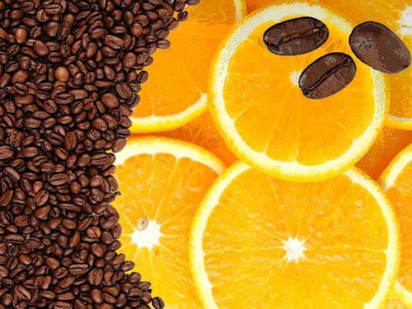 апельсин и кофе для пилинга