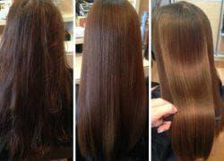 результат использования ботокса для волос